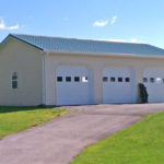 3 car pole barn garage