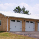 tan pole barn garage