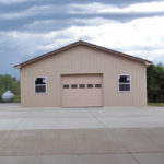 pole barn garage with 1 door