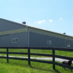 newly built horse barn structure