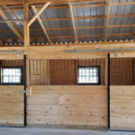pole building interior horse stables and concrete floor