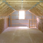 second story pole barn interior storage space